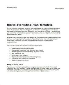 digital marketing caign planning template 32 plan templates in word
