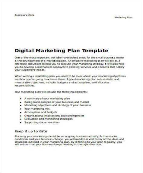 digital marketing plan template doc 32 sle plan templates in word