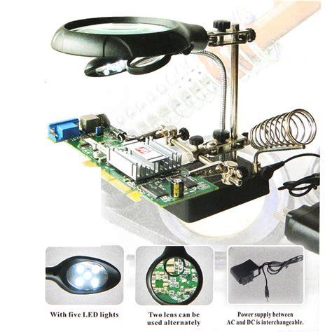 Alat Pegangan Solder Helping Kaca Pembesar Lu Led alat pegangan solder helping kaca pembesar lu led black jakartanotebook