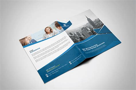 one fold brochure template 70 modern corporate brochure templates design shack