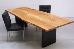massiver tisch massiver baumstamm tisch genesis 180 cm eiche massivholz
