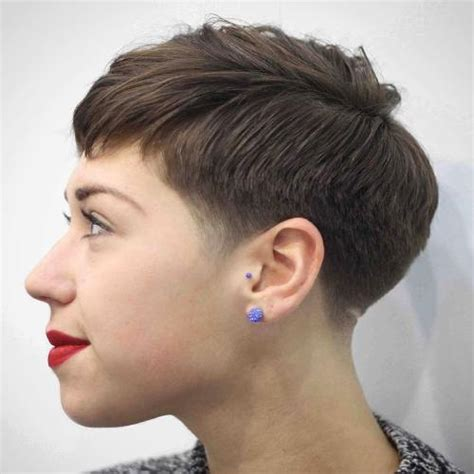 pixie hairstyle full on top tapered back for women 60 cute short pixie haircuts femininity and practicality