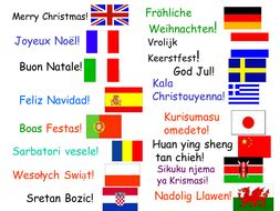 merry christmas   languages teaching resources