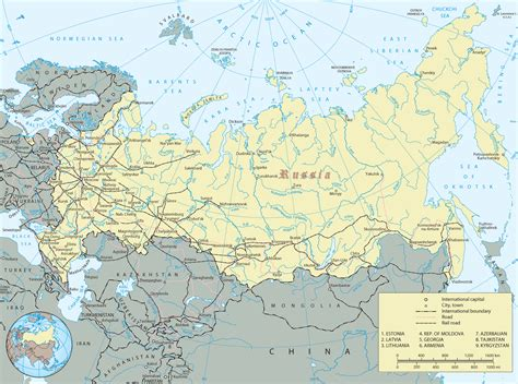 russian map russia map russian federation europe