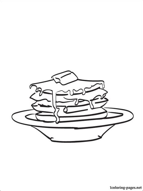 pancakes coloring page coloring pages