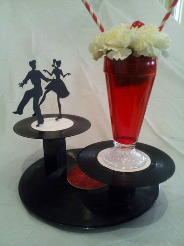 50 s table decorations 30 each super cool daddio 50s sock hop custom handmade