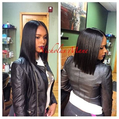 black people weave cut into a bob there s just something so sexy about a blunt cut bob