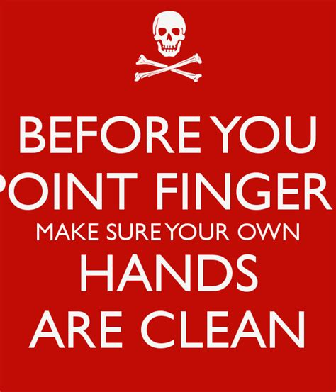 make clean pointing your finger quotes quotesgram