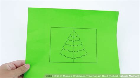 How To Make A Pop Up Christmas Tree Card