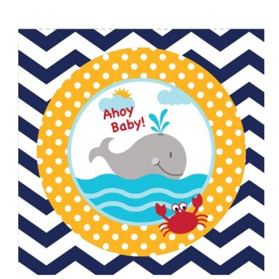 Ahoy Baby Shower Decorations by Ahoy Baby Shower Beverage Napkins