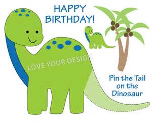 Pin The On The Dinosaur Template by Dinosaur Pin The On The Dinosaur Birthday You