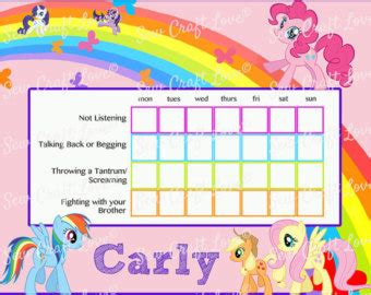 printable reward charts my little pony 6 best images of printable tinkerbell reward chart blank