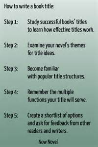 How To Write A Book Name In An Essay by How To Write A Book Title 5 Steps Now Novel