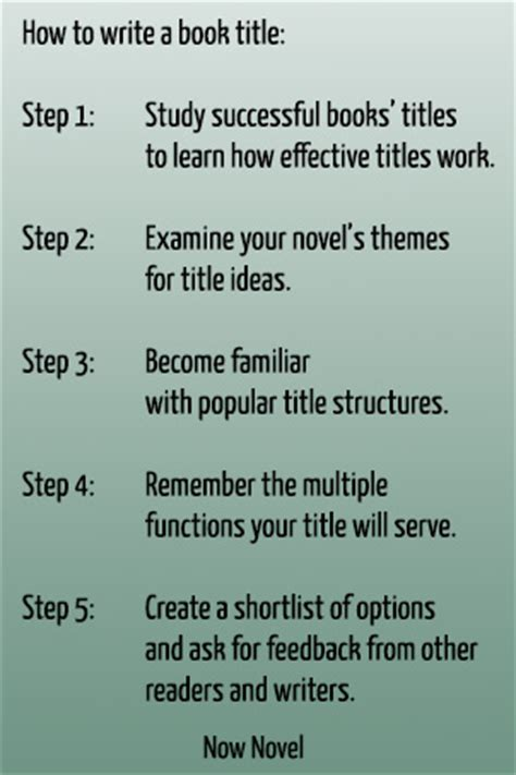 What To Write In A Book For A Baby Shower by How To Write A Book Title 5 Steps Now Novel