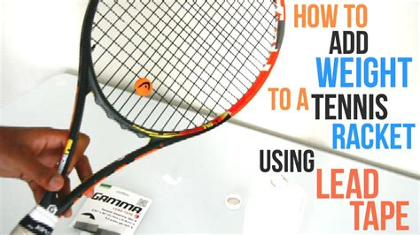 how to lead your how to add weight lead to your racket by tennis reviews