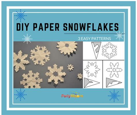 Diy Easy Paper Cut Snowflake - diy paper snowflakes template easy cut out decorations