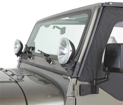 jeep tj windshield lights windshield mount or mount for aux lights