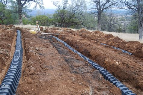 leach bed building a septic system