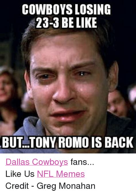 Losing Meme - 122 funny tony romo memes of 2016 on sizzle