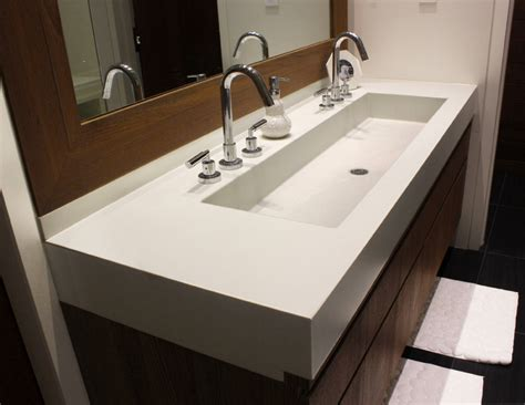 undermount trough sink trough sinks for efficient bathroom and kitchen ideas