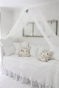 all white with textural elements in the sham canopy is an
