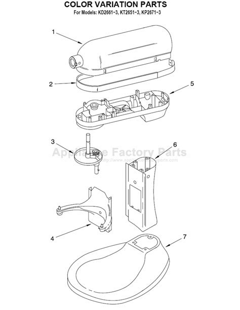 Parts for KP2671XWH   Kitchenaid   Mixers