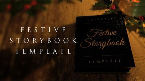 Festive Storybook Opening After Effects Template Youtube After Effect Opening Template