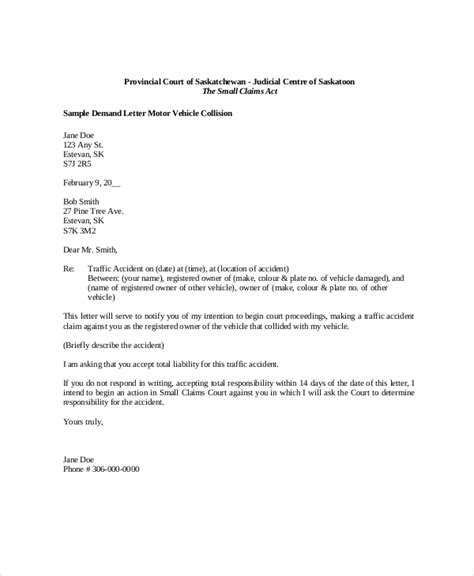 Demand Letter For Property Damage Sle Demand Letter Auto Docoments Ojazlink