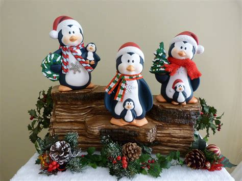 ceramic holiday gifts ceramic penguins unique handpainted gifts for your decor