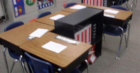 Square Desk Arrangement With Bookcase Classroom Set Up Student Desk Arrangements