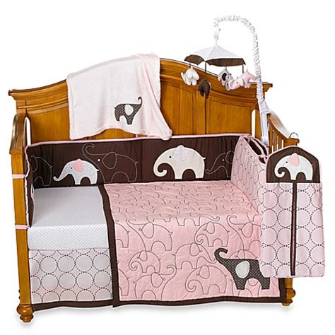 carters bedding carter s 174 pink elephant crib bedding accessories bed
