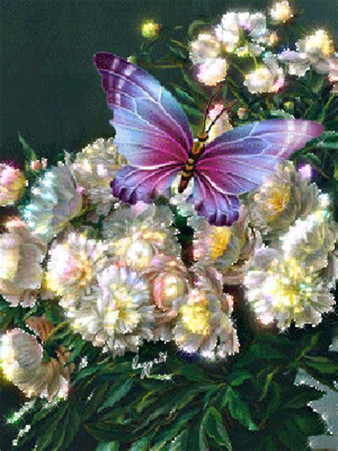 imagenes flores hermosas animadas imagenes bonitas con movimiento de flores con una mariposa