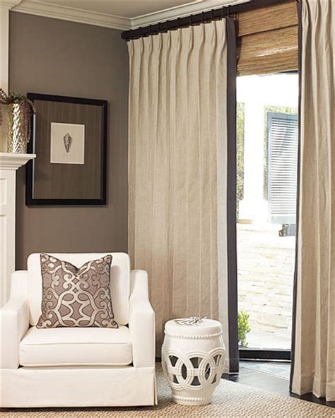 banded drapes custom linen drapery a perennial classic at drapestyle
