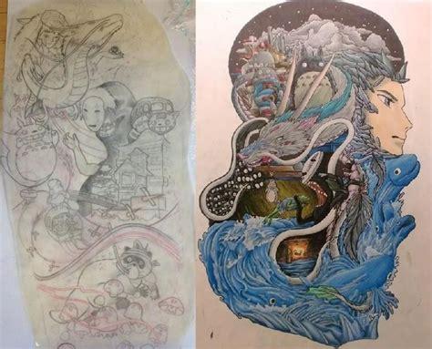 hayao miyazaki tattoo ideas ghibli