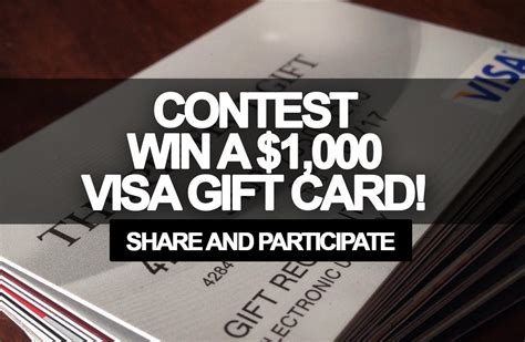 Free 1000 Visa Gift Card - contest win a 1 000 visa gift card