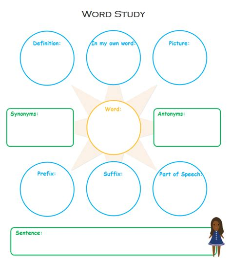 graphic organizers template word vocabulary study graphic organizers free templates