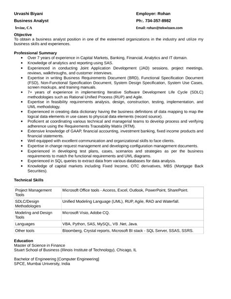 Sle Resume Quantitative Analyst Best Quantitative Analyst Resume Template