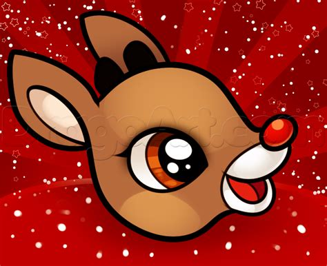 how to draw rudolph easy step by step christmas stuff