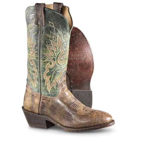 green cowboy boots s h 174 12 quot western boots onyx forest green