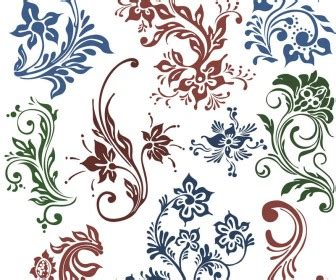 floral pattern cdr download vintage free stock vector art illustrations eps ai