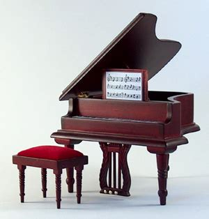 Childs Piano With Stool by Baby Grand Piano With Stool Mahogany Dejoux Miniatures