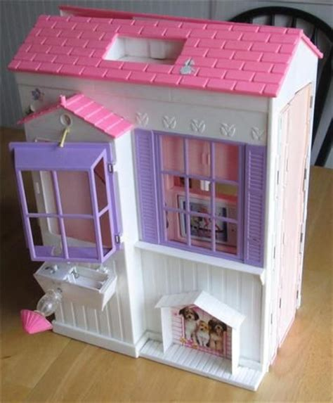 folding dolls house vintage 1996 folding pretty house kitchen barbie doll furniture plays
