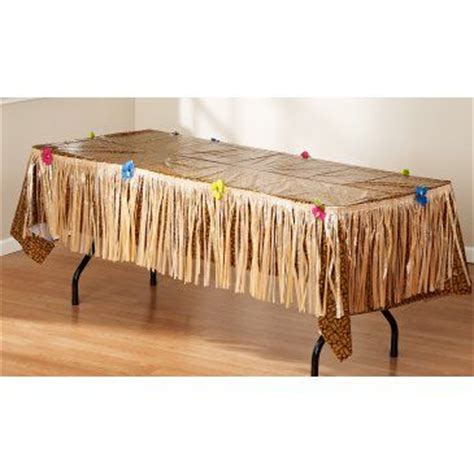 Grass Table Skirts by Luau Table Decoration Package