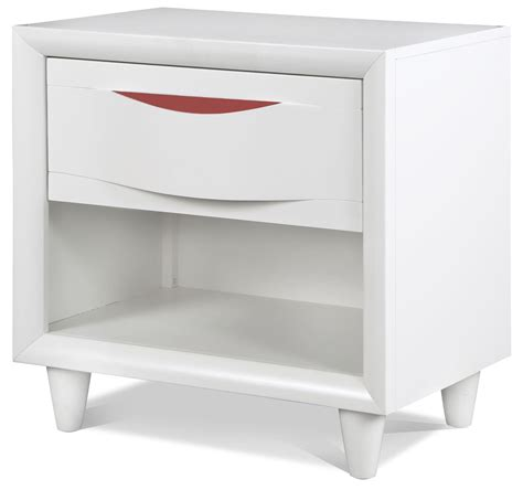 White And Wood Nightstand Crayola Colors Snow White Wood Open Nightstand Y2647 05 Magnussen Home
