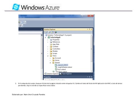windows 10 visual studio tutorial tutorial windows azure con visual studio 2010