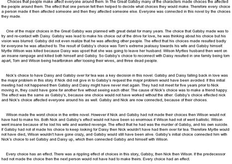 Essay On The Great Gatsby by Persuasive Essay Exles