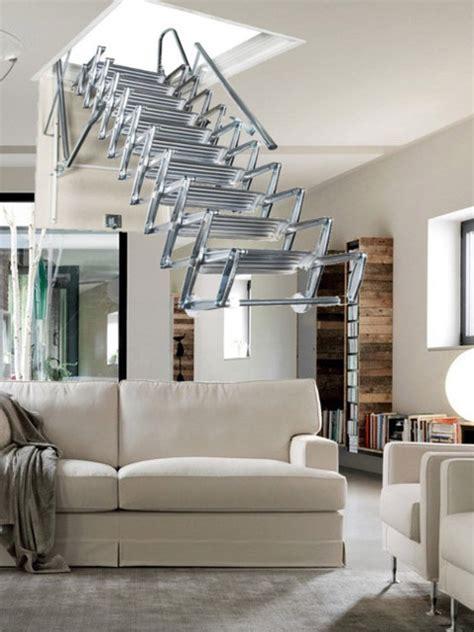scala per soffitta scale retrattili con pacco gradini a pantografo in accaio