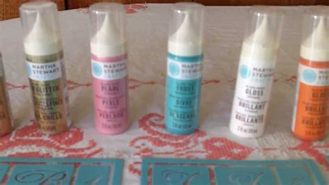 martha stewart glass paints by plaid