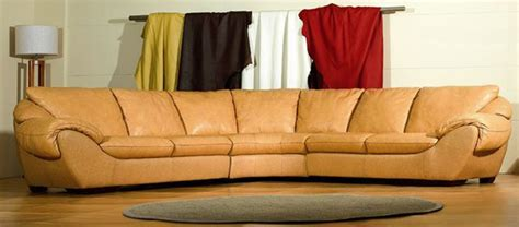High End Leather Sectional Sofa High End Curved Sectional Sofa In Leather Modern Sectional Sofas Miami By Prime Classic