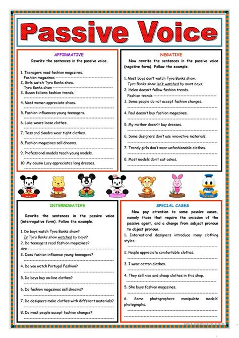 let s teach english passive voice board game 497 free esl passive voice or active voice worksheets